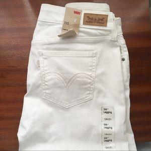 Levi's 535 low rise white Legging jeans 13/31